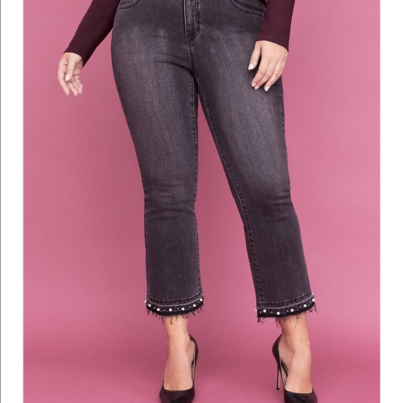 NEW LANE BRYANT HIGH RISE DENIM JEGGING PULL ON JEAN LEGGING PLUS SIZE 18W 5****